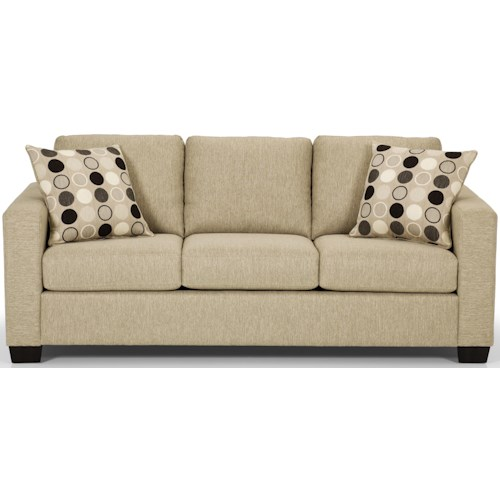 Sunset Home 702 Contemorary Sofa with 2 Accent Pillows
