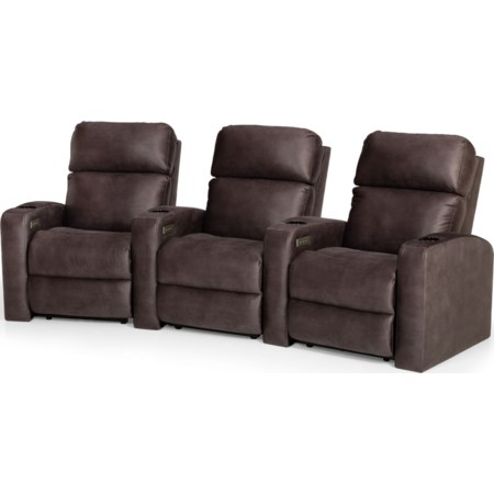 3-Seat Power Reclining Home Theater Group