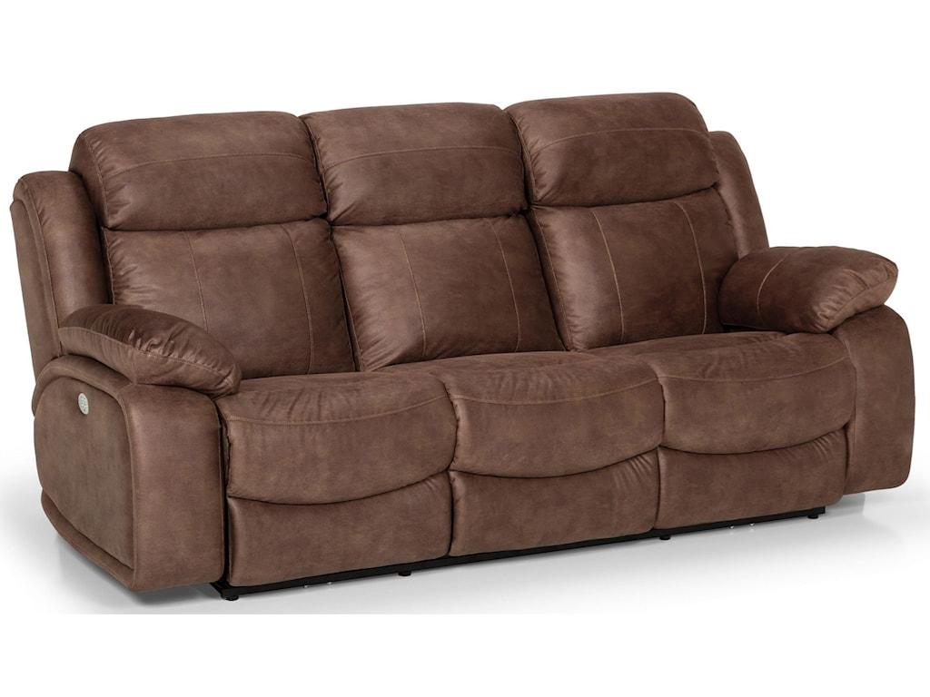 Sunset Home 21068Dual Reclining Power Sofa w/ Pwr Head & Lumb