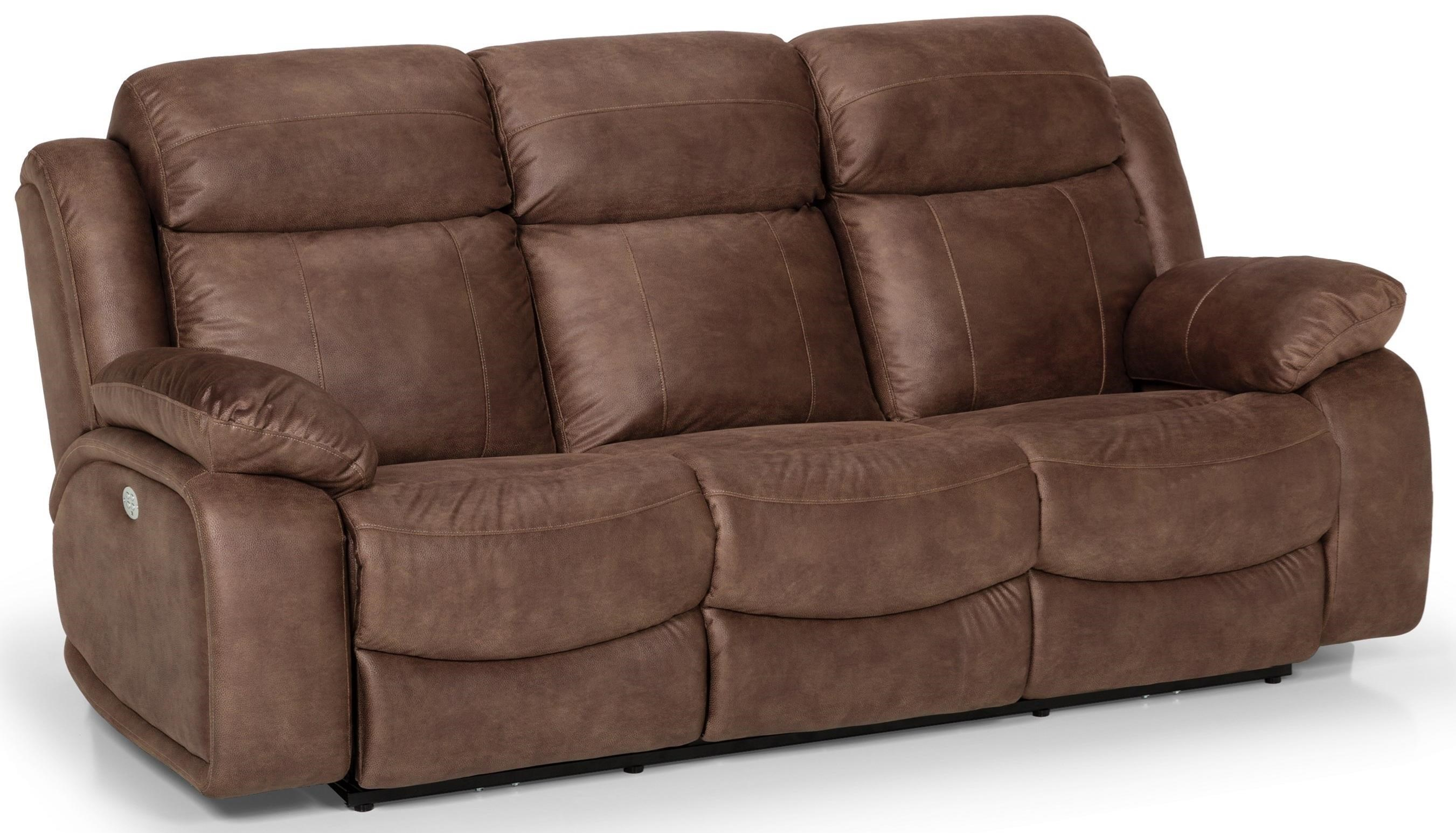 Stanton 853 Casual Dual Reclining Power Sofa With Power Head/Lumbar And USB  Ports In