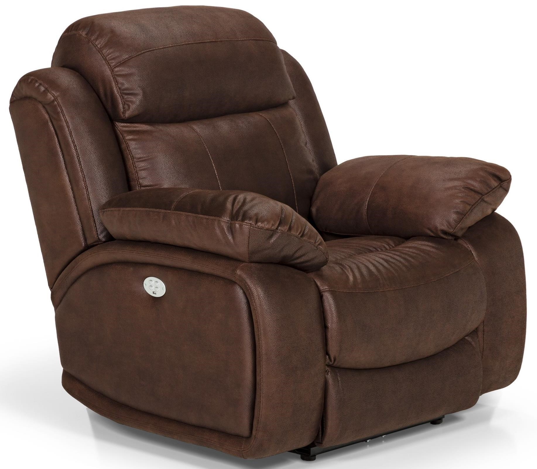 Sunset Home 853 Power Reclining Chair With Power Head/Lumbar And USB Port