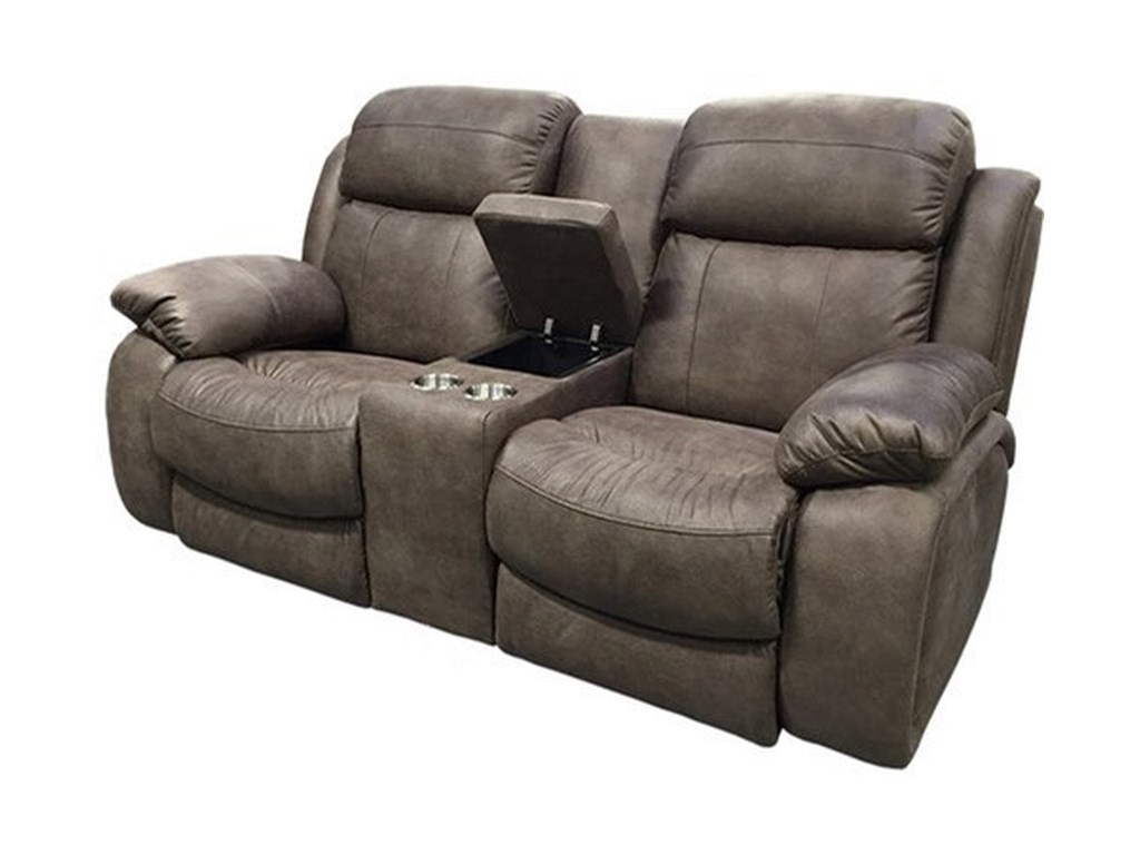 Sunset Home 21068Power Reclining Console Loveseat w/ Pwr Head