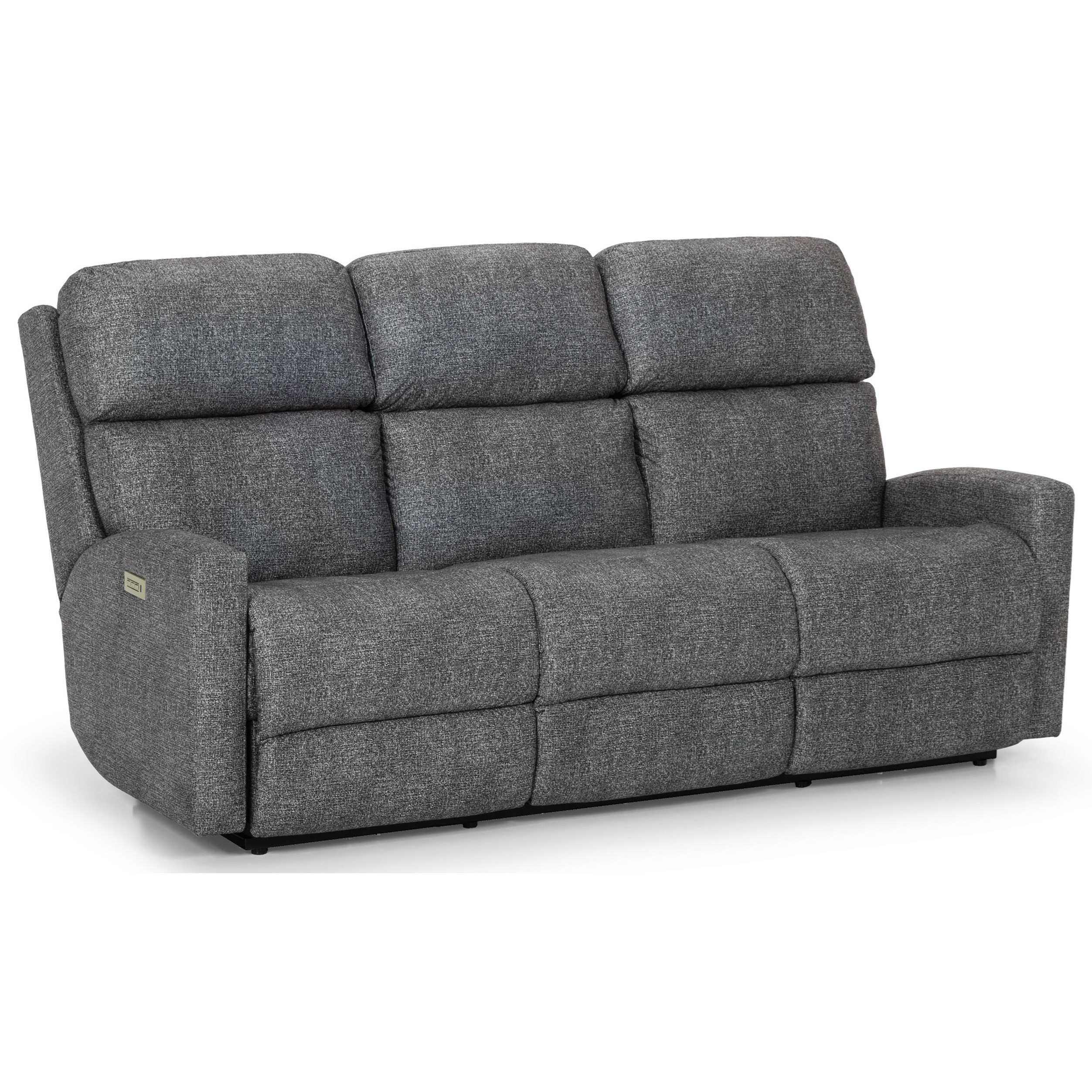 Stanton 857 Contemporary Power Reclining Sofa With Power Head/Lumbar And  USB Charging Ports