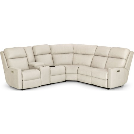 4-Seat Pwr Recl Sectional w/ Pwr Head