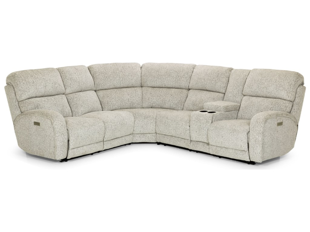 Sunset Home 8586-Piece Reclining Sectional