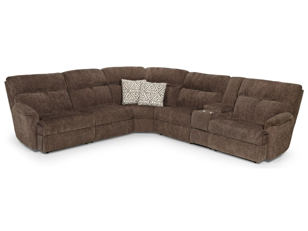 Sunset Home 9136 Pc Reclining Sectional Sofa