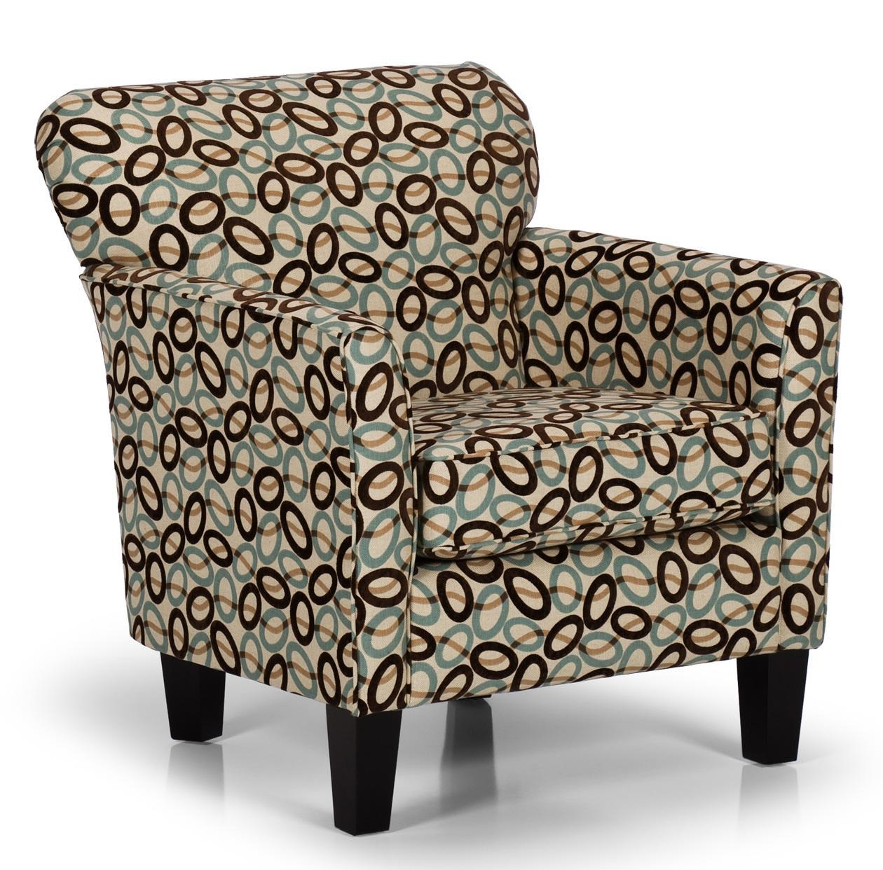 Stanton Accent Chairs and Ottomans Contemporary Accent Chair with Flared Arms - Wilsonu0026#39;s ...