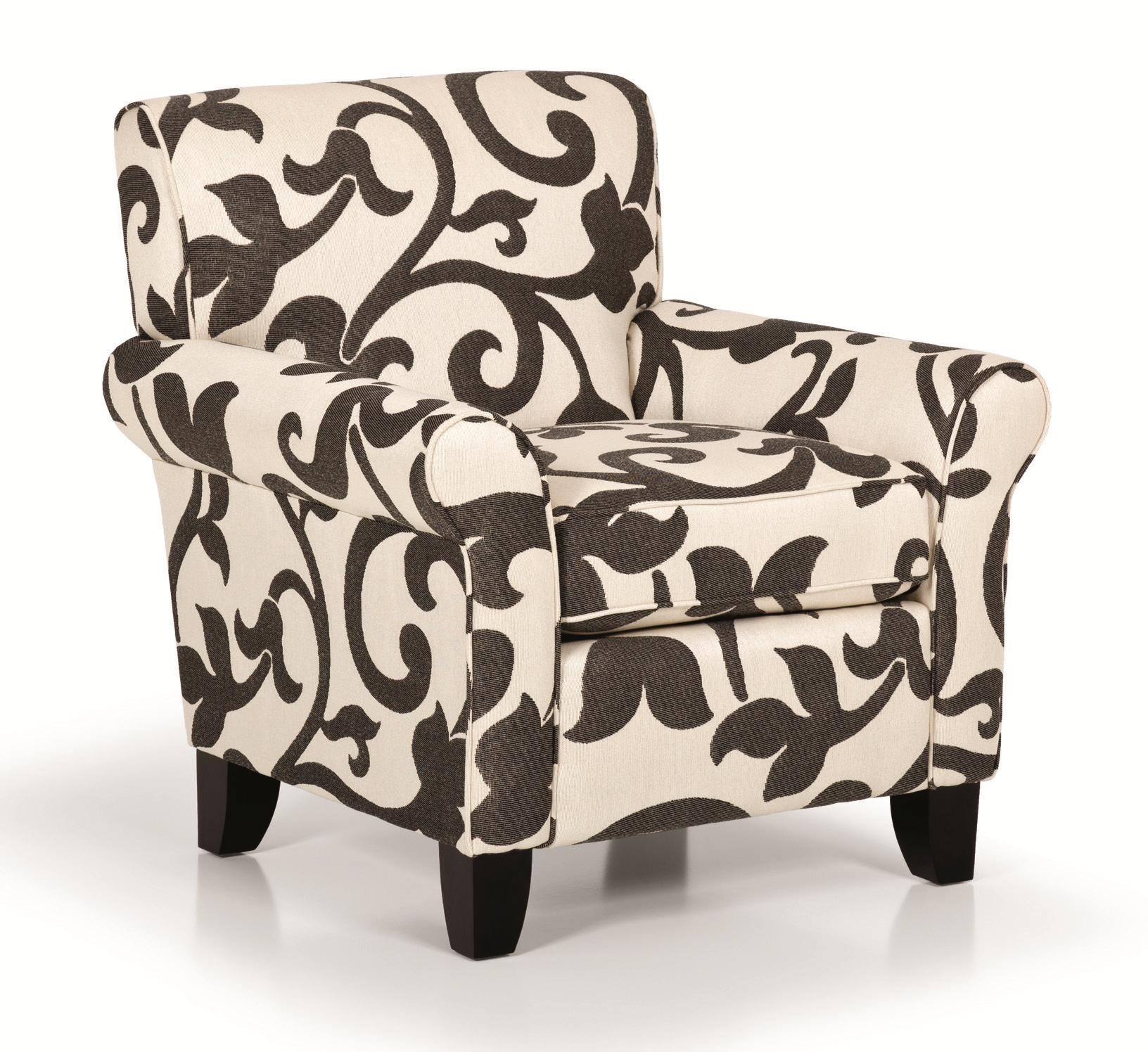 Stanton Accent Chairs And Ottomans Transitional Rolled Arm Accent Chair
