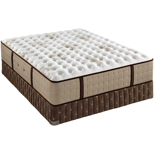 Stearns & Foster Oak Terrace II King Luxury Cushion Firm Mattress and Box Spring