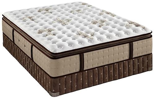 Stearns & Foster Oak Terrace IV Queen Firm Euro Pillow Top Mattress and Box Spring