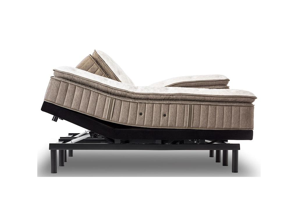 Stearns & Foster Villa Ascoli Plush Euro TopSplit King Plush Euro PT Adjustable Set