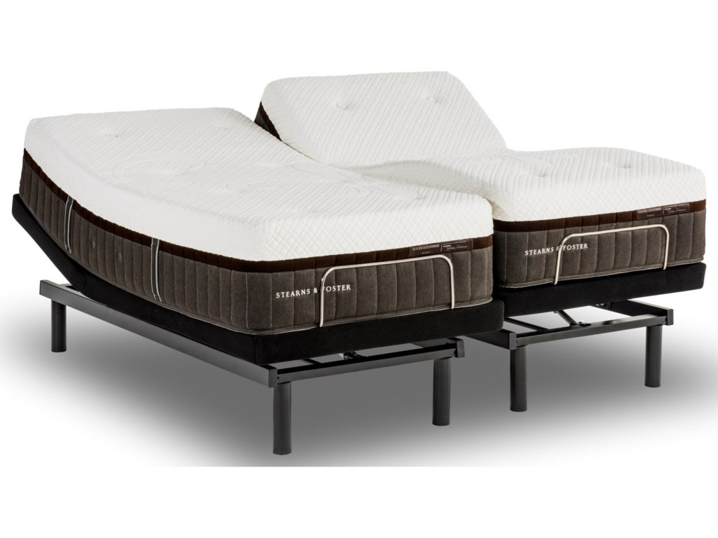 Villa Potenza Hybrid Firm Full Mattress And Ease Adjule Base By Stearns Foster