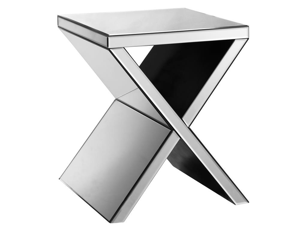 Elegant Stein World Accent Tables Mirrored Corner Table