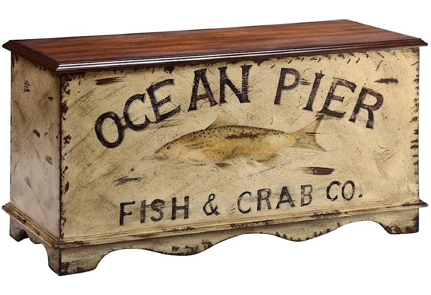 Stein World Accent Tables Ocean Pier Painted Trunk Westrich Furniture Appliances Cedar Chests Trunks