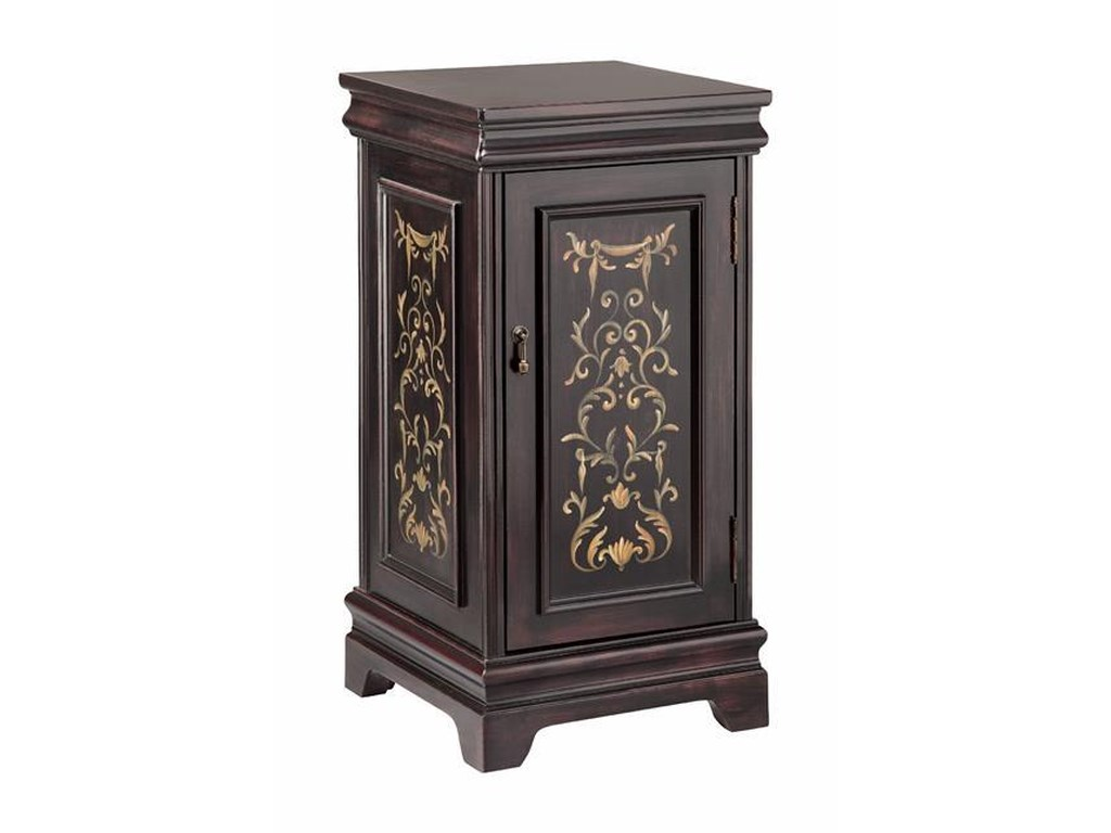Morris Home Accent TablesPedastal with Storage