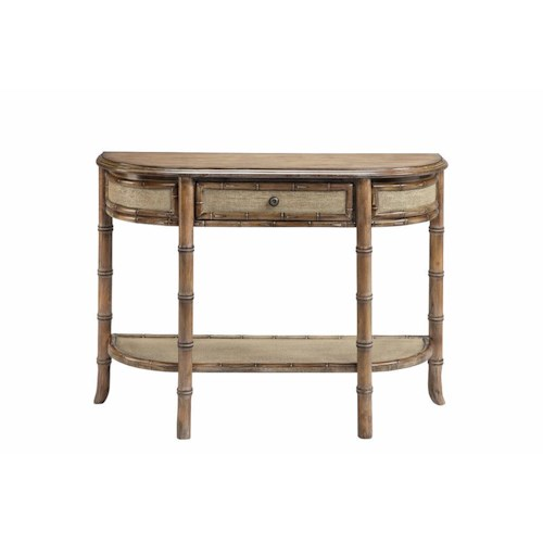 Stein World Accent Tables 1 Drawer Console Table Bamboo Styling