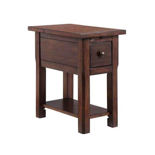 Stein World Accent Tables 1-Drawer Chairside table with rustic lodge finish