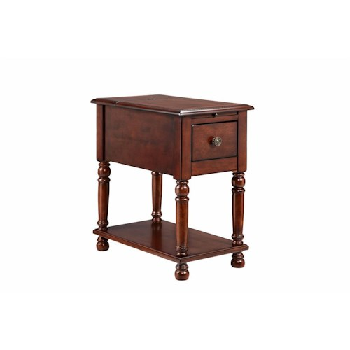 Stein World Accent Tables 1 Drawer Chairside Table With A Cherry Finish Dream Home Furniture