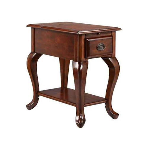 Stein World Accent Tables 1-Drawer Chairside table in rich cordovan finish'