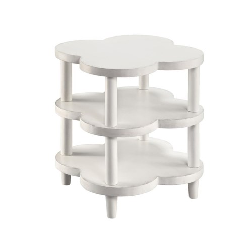 Stein World Accent Tables 2-Shelf White End Table
