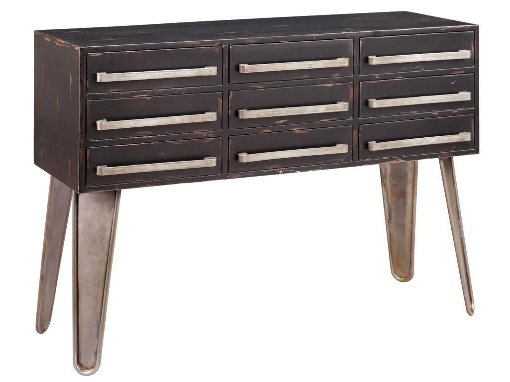 Stein World Accent Tables Black 9 Drawer Table