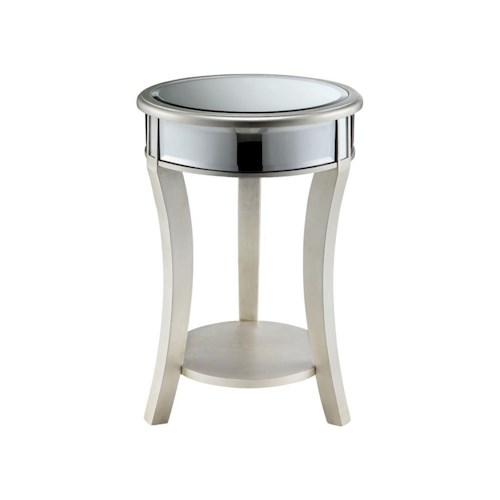 Stein World Accent Tables Mirrored Round Table