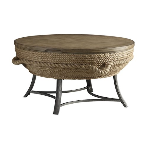 Stein World Accent Tables Crescent Key Lift-Top Cocktail Table