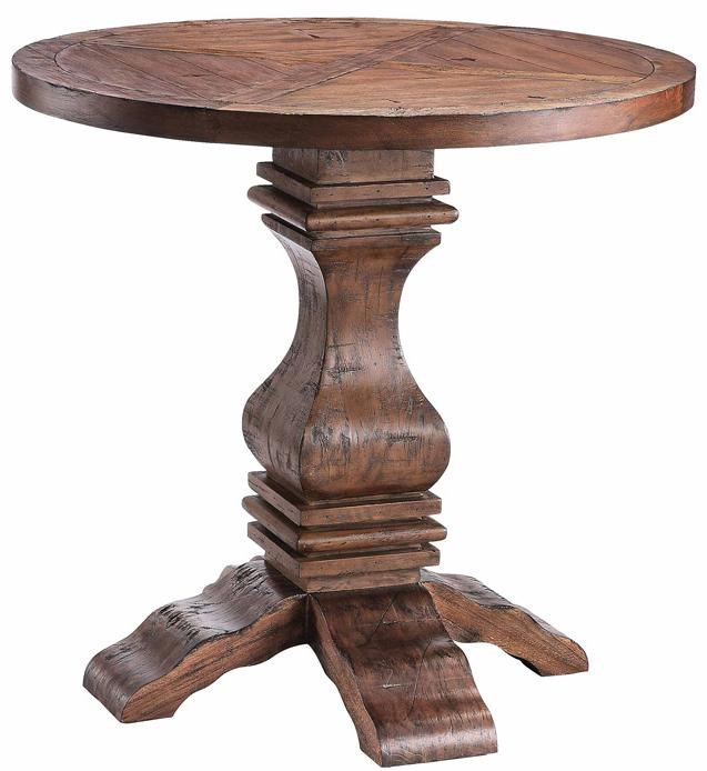 Charmant Stein World Accent TablesRound Pedestal Table