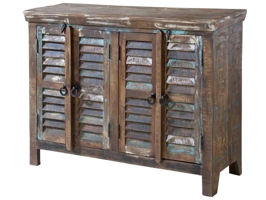 Marvelous Stein World Cabinets Louvered 4 Door Cabinet