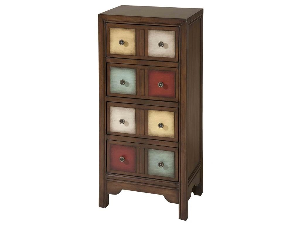 Stein World Cabinets 4 Drawer Multi Colored Cabinet