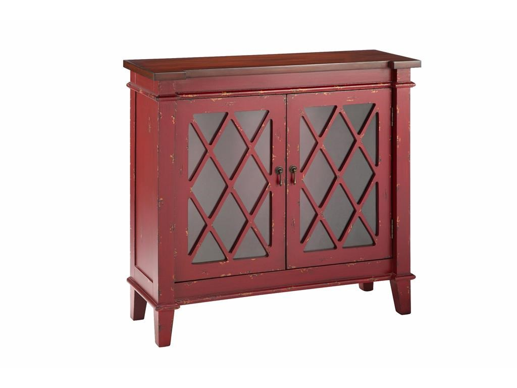 Stein World Cabinets 2 Glass Door Cabinet In Red