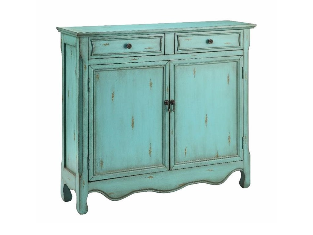 Stein World Cabinets Cupboard 2 Door, 2 Drawer in Antique Blue - Stein World Cabinets Cupboard 2 Door, 2 Drawer In Antique Blue