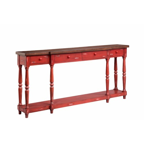 Stein world cabinets 4 drawer console fired briquette boulevard home furnishings sofa table - Sofa table with cabinets ...