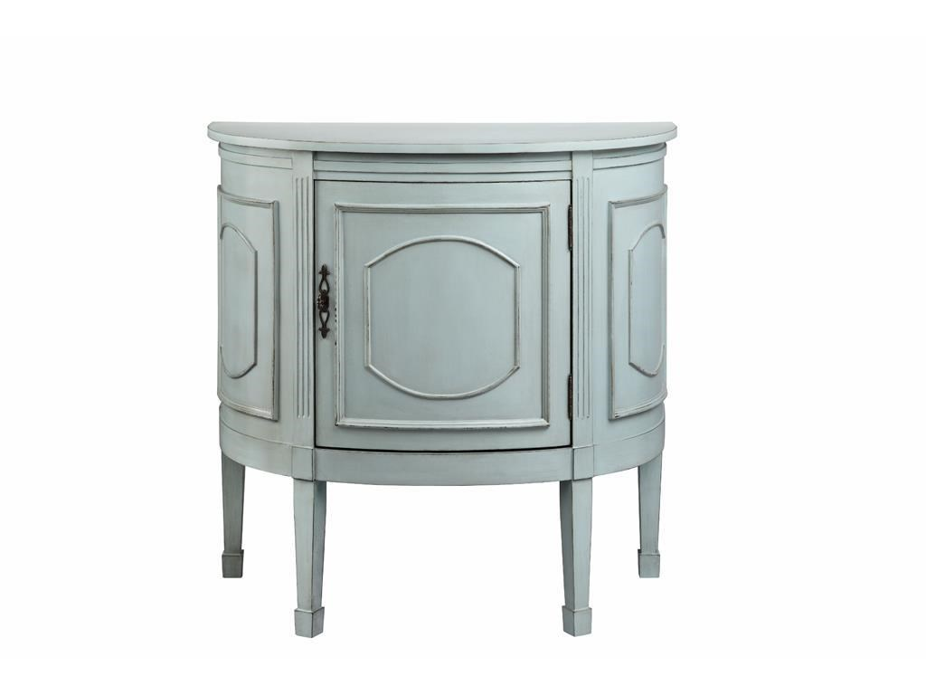 Stein World Cabinets 1 Door Demilune Console