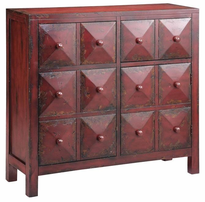 Stein World Cabinets Accent Cabinet W/ Pyramid Block Facings