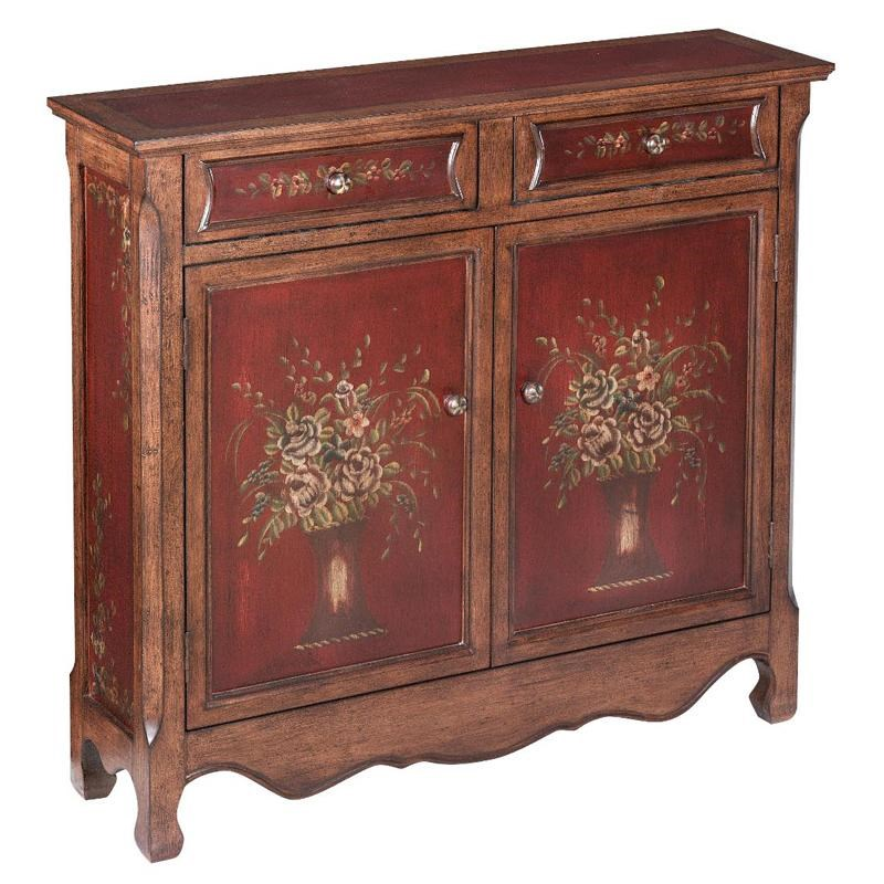 Stein World Cabinets Traditional Two Tone Cupboard With 2 Drawers And 2  Doors