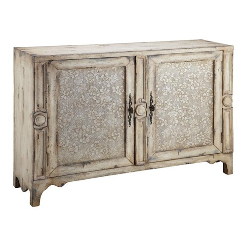 Stein World Chests Classic 2 Door Chest with Raised Floral Pattern