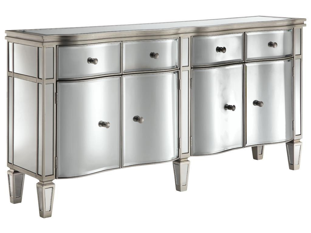 Chests Mirrored 4 Door, 4 Drawer Chest By Stein World