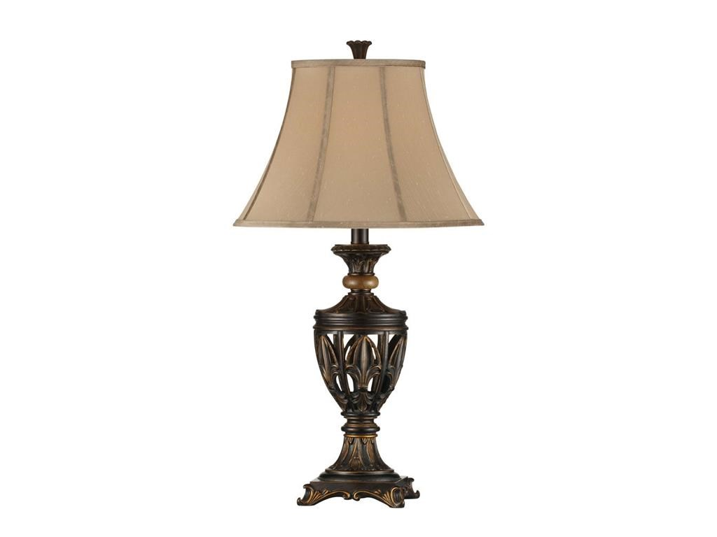 Stein World Lamps 2 Pk Fleur De Lis Open Work Table Lamp