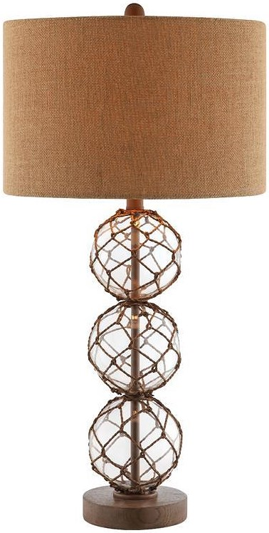 Stein World Lamps Rope & Glass Lamp