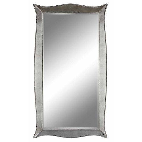 Stein World Mirrors Marlena Floor Mirror with Bead Detailing