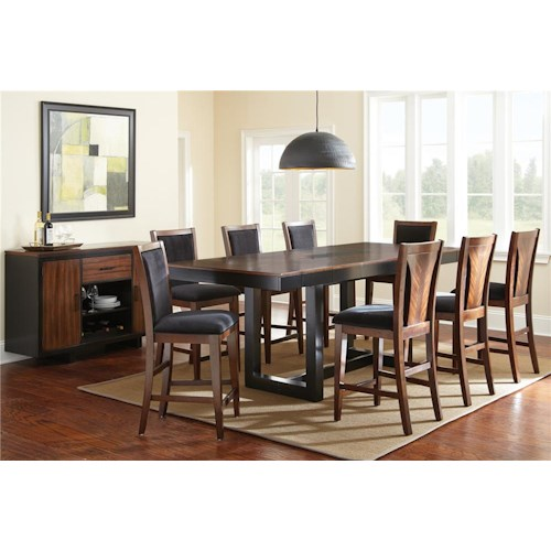 Steve Silver Julian 8 Piece Counter Height Dining Set