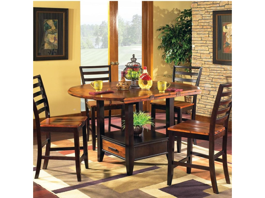 Vendor 3985 Abaco5-Piece Square/Round Gathering Table Set