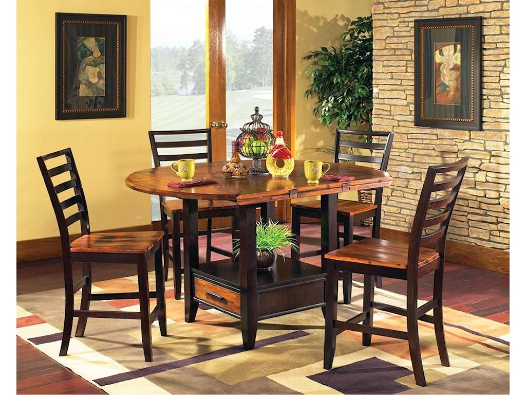 Vendor 3985 Abaco5-Piece Square/Round Gathering Table Set