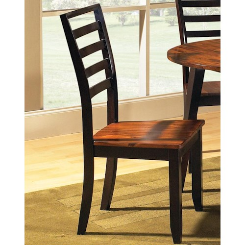 Sierra Nevada Solid Wood Kitchen Side Dining Chair Furniture: Steve Silver Abaco AB300S Ladder Back Side Chair
