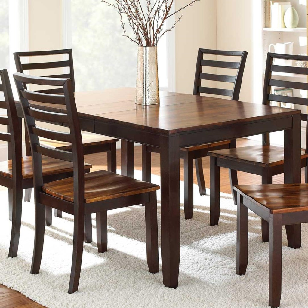Abaco Solid Wood Acacia Top Rectangular Leg Table with Self