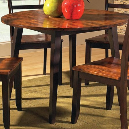 "42"" Round Drop Leaf Leg Table"