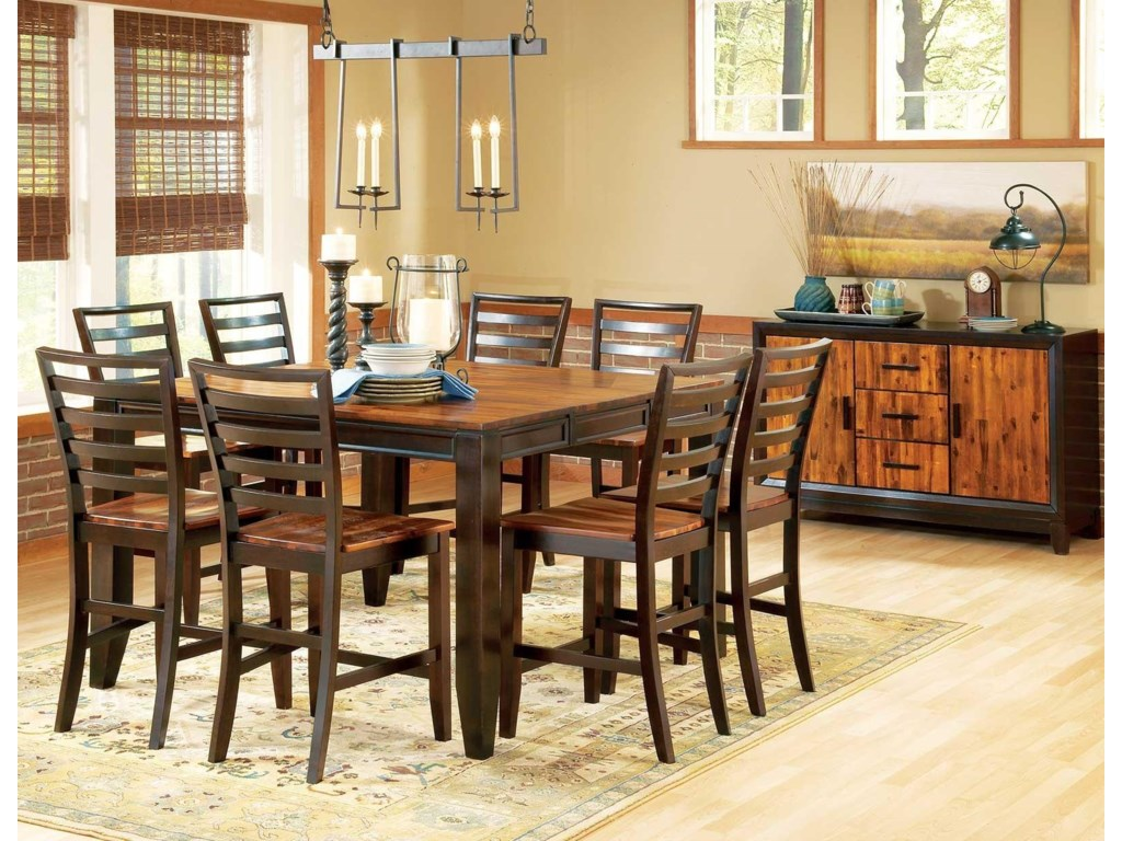 Vendor 3985 Abaco9-Piece Gathering Table Set