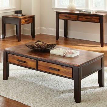 Two Drawer Rectangular Coffee Table