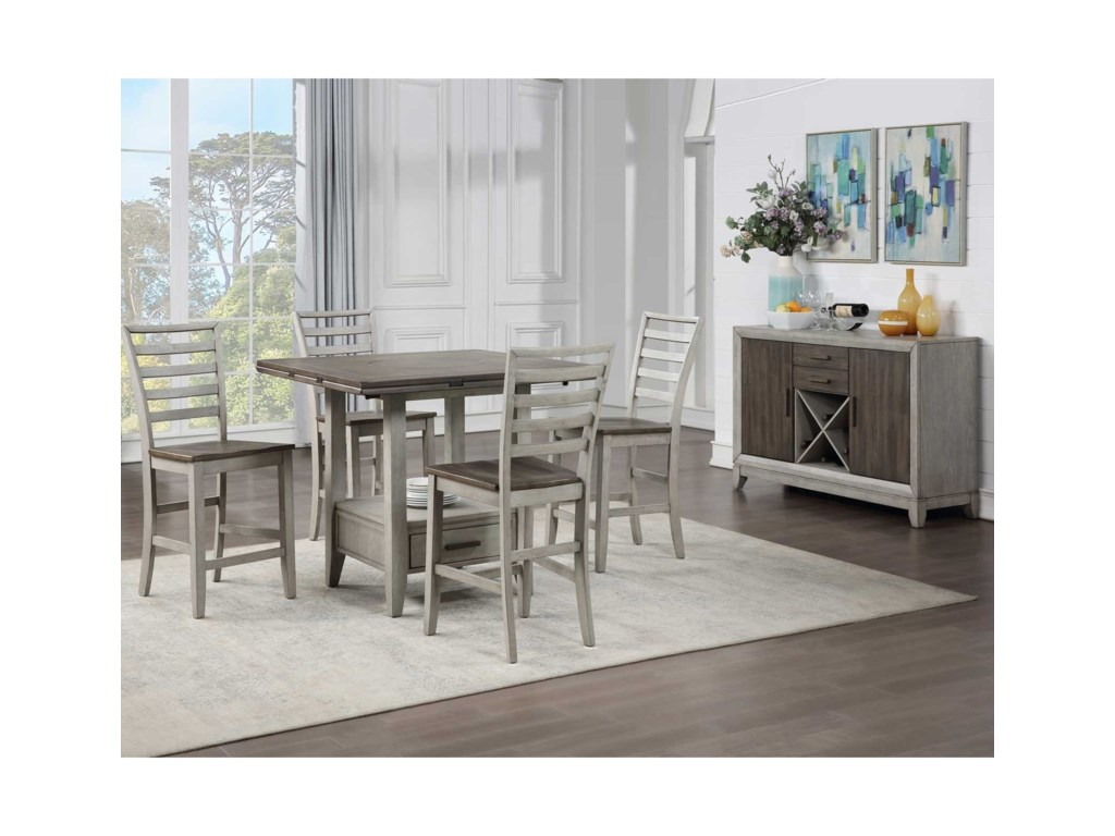 Steve Silver Abacus5-Piece Counter Table and Chair Set